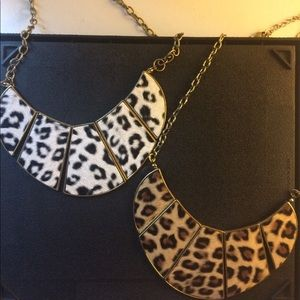 White Animal Print Necklace